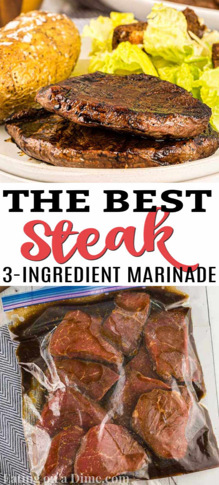 Easy Steak Marinade - The Best Marinade for Steak - Eating on a Dime #steakmarinades