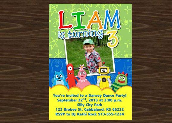 Yo Gabba Gabba Invite Birthday Party Invitation Liam39s 2
