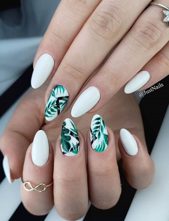 56 Lovely Acrylic Almond Shaped Nails To Inspire You This Summer Page 14 Of 55 Latest Fashion Trends For Woman In 2020 Almond Acrylic Nails Fake Nails Almond Nails Designs