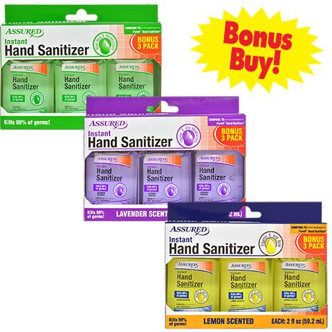 Assured 2 Oz Travel Sized Hand Sanitizers 2 Ct Packs Hand