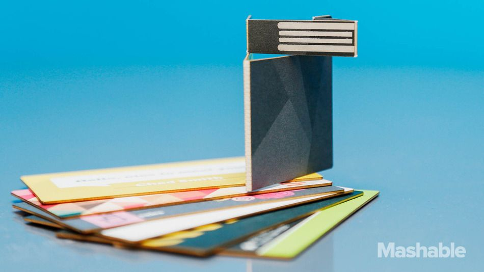 The Swivelcard is a smart business card that can be used to store your resume web portfolio and other job-hunting items.