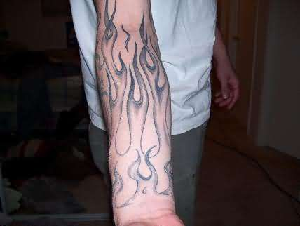 Flame Arm Tattoo Sleeves | Fire & Flame Tattoos Pictures and ...