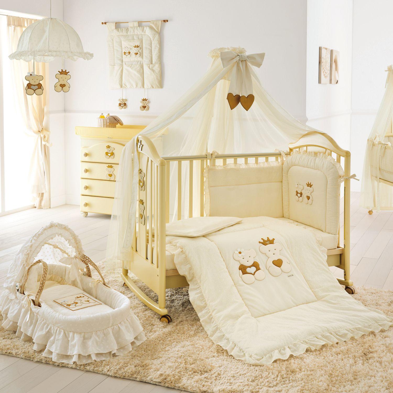 Besonderes babyzimmer aus italien kinderm bel mit kronen und teddyb ren diese kollekti - Besondere kinderbetten ...