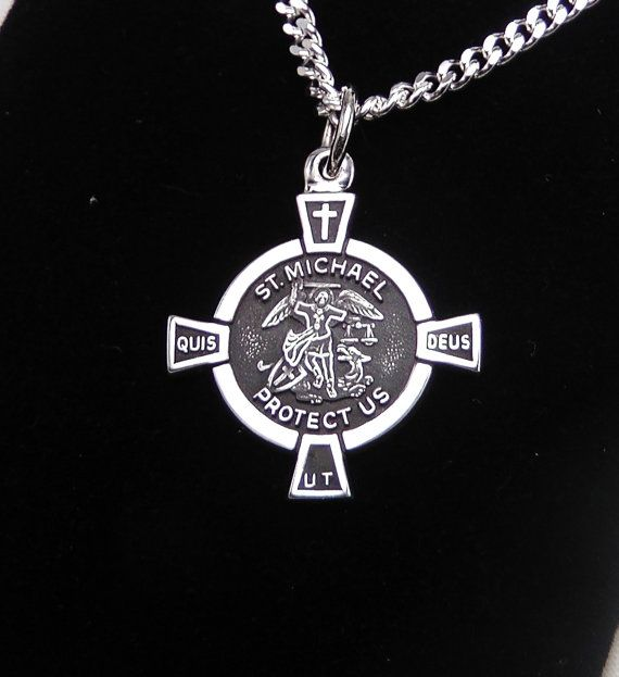 Hey, I found this really awesome Etsy listing at https://www.etsy.com/listing/181253762/st-michael-medal-sterling-silver