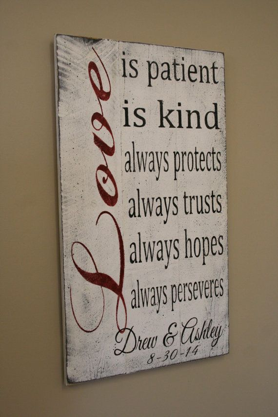 Love Is Patient Love Is Kind Wedding Sign Pallet Sign Shabby Chic