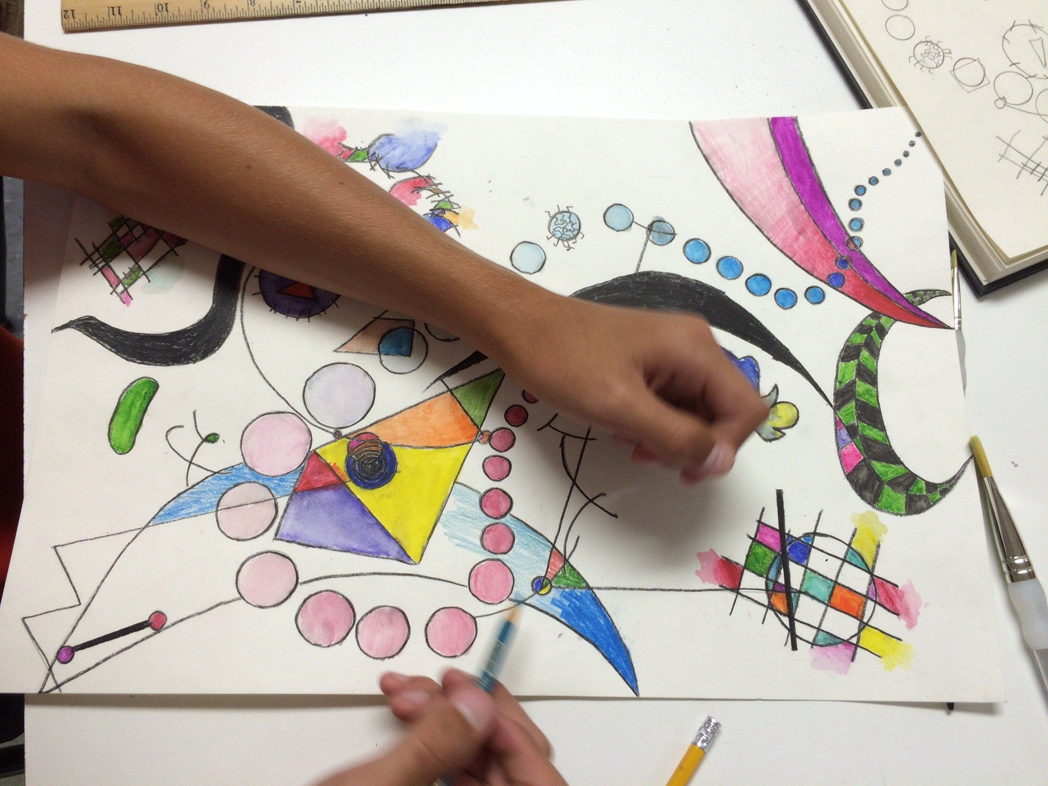Abstract Watercolor Pencil Art Lesson And Other Great Drawing And