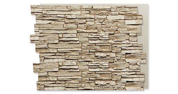 Creamy Beige Colorado Stacked Stone Tall