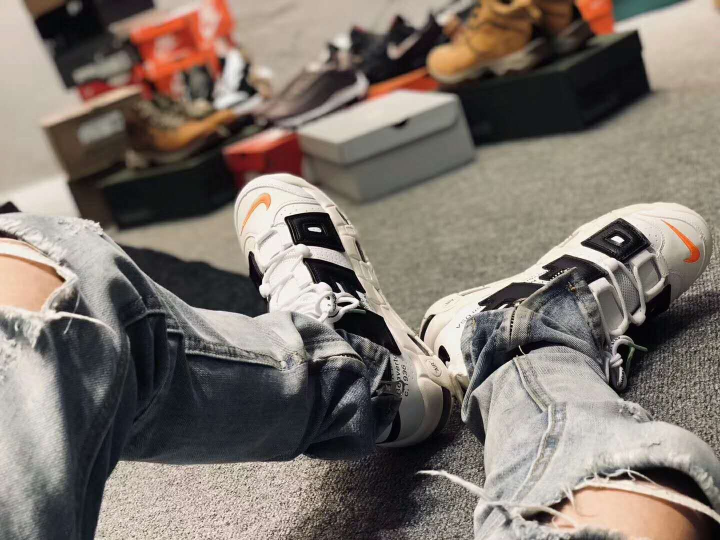 check out 42be0 8b2b4 Virgil Abloh Off-White x Nike Air more uptempo 96 custom