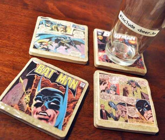 Comic Book Coasters is part of Comic books diy - After a day of fighting crime, fight boredom with one of these creative crafts