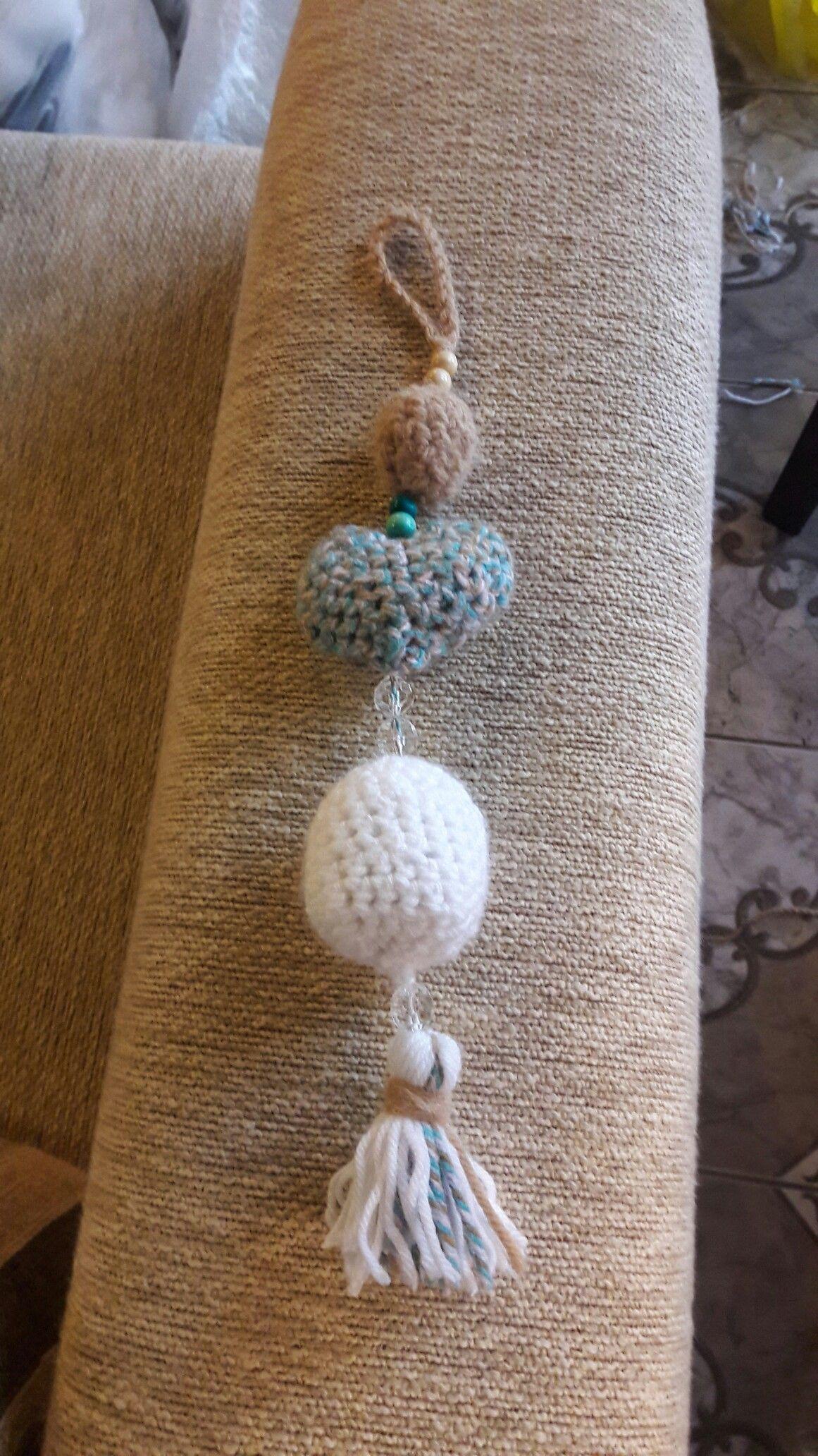 Colgante para platillos o decorativo a crochet