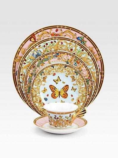 Butterfly Garden Service Plate on Luvocracy