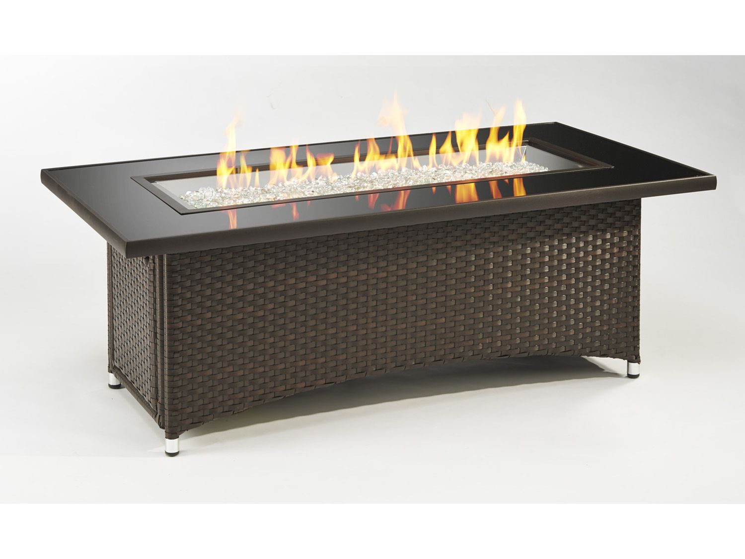 Image Result For Rectangular Fire Pit With Wicker
