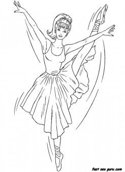 Printable Barbie Ballerina Coloring In Sheet Printable Coloring