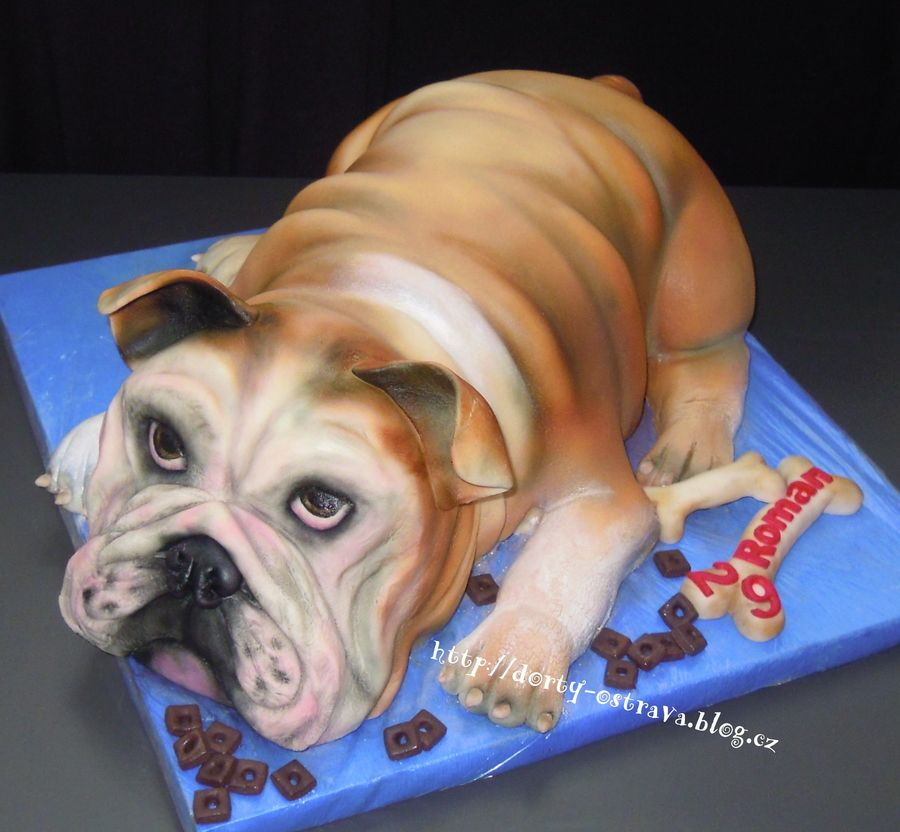 English Bulldog With Images English Bulldog Bulldog Bulldog Cake