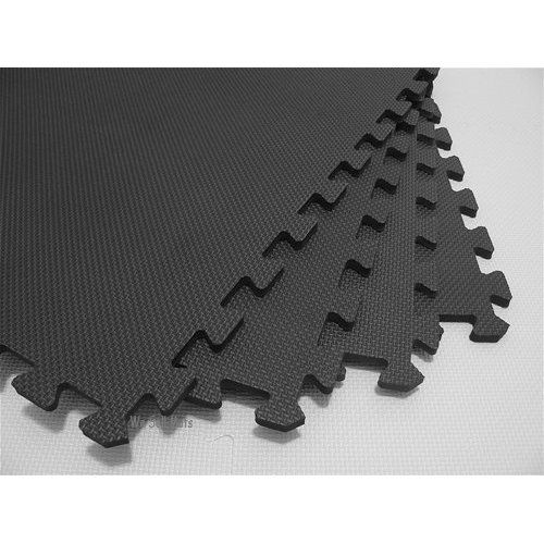 144 sqft black interlocking foam floor puzzle tile mat child gym flooring safety