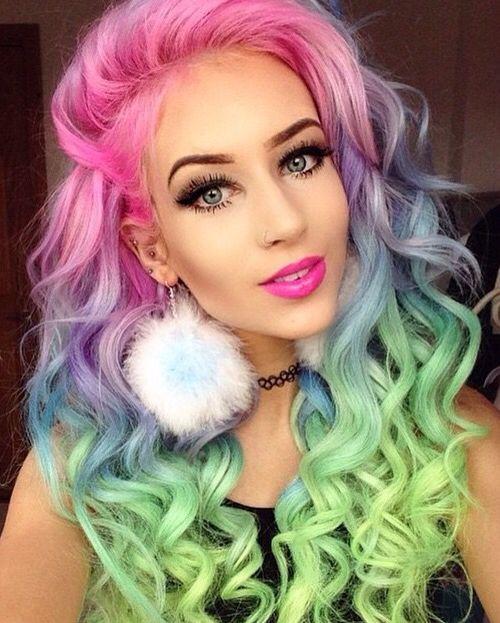 rainbow sherbet hair color #prohairtools