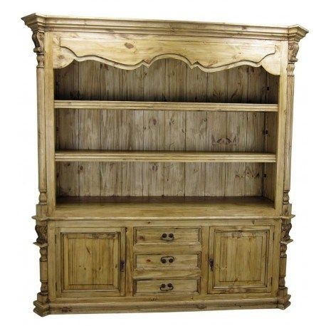 Large Solid Wood Library or Entertainment Unit Rustic Pine Furniture #rusticpinefurniture