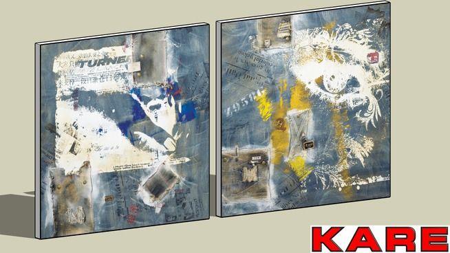KARE 30276 Oil Painting Vintage Jeans 100x100 Assorted (Ölbild Vintage J - 3D Warehouse