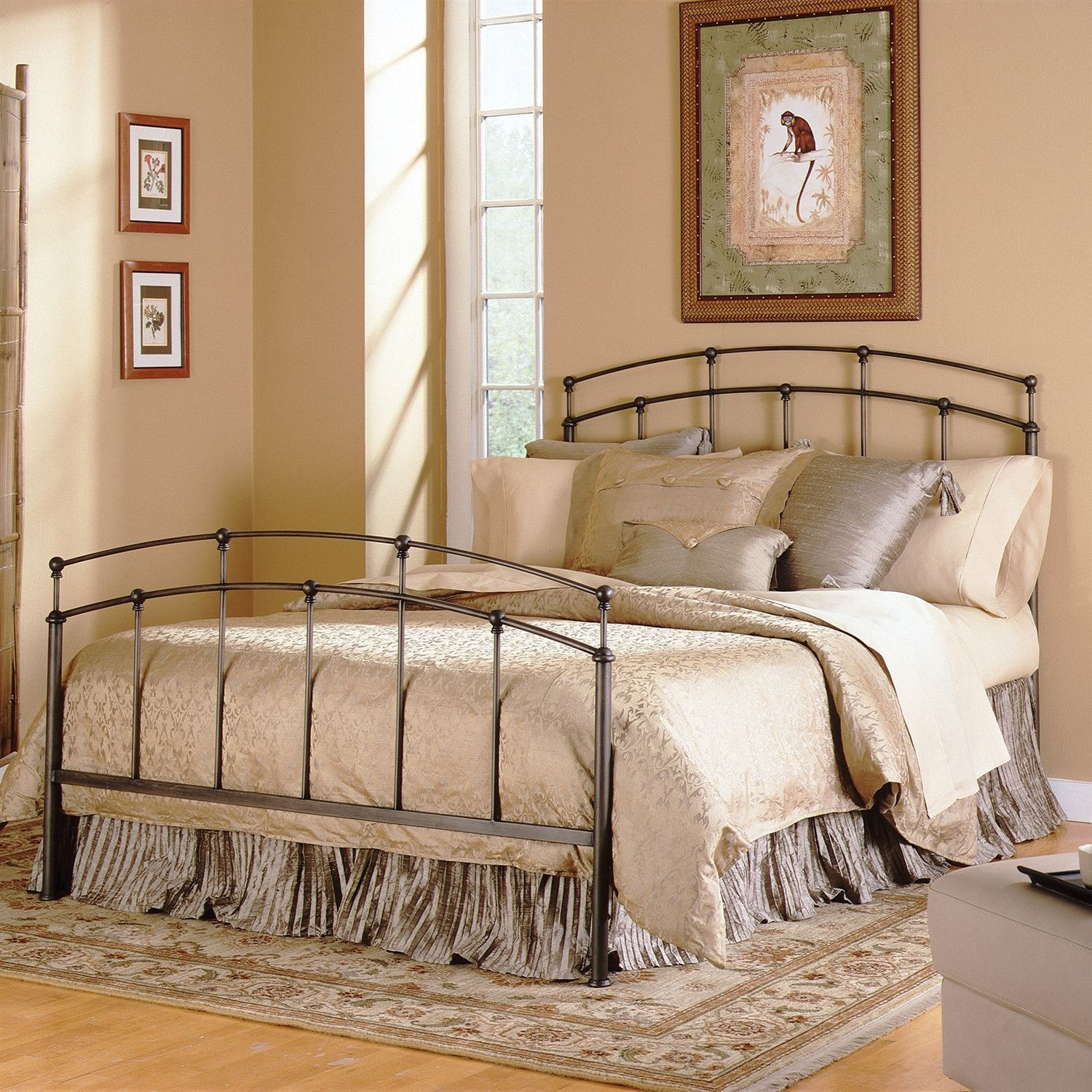 Best Queen Size Metal Bed With Headboard And Footboard In Black 640 x 480