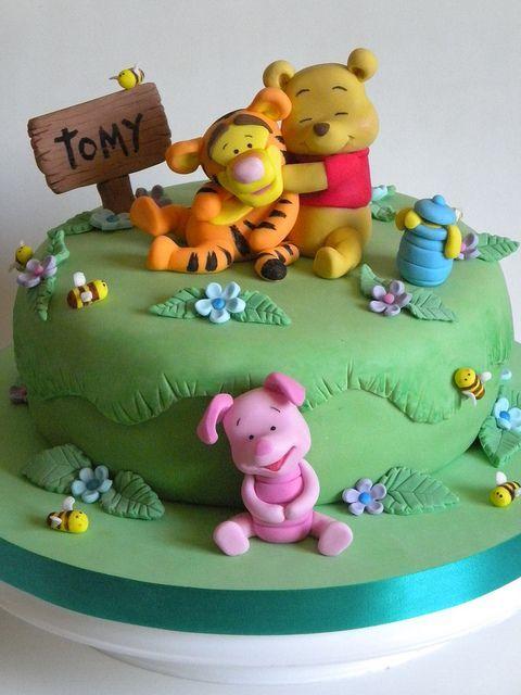 torta pooh bebe flickr intercambio de fotos disney 39 s winnie the pooh and friends cakes. Black Bedroom Furniture Sets. Home Design Ideas