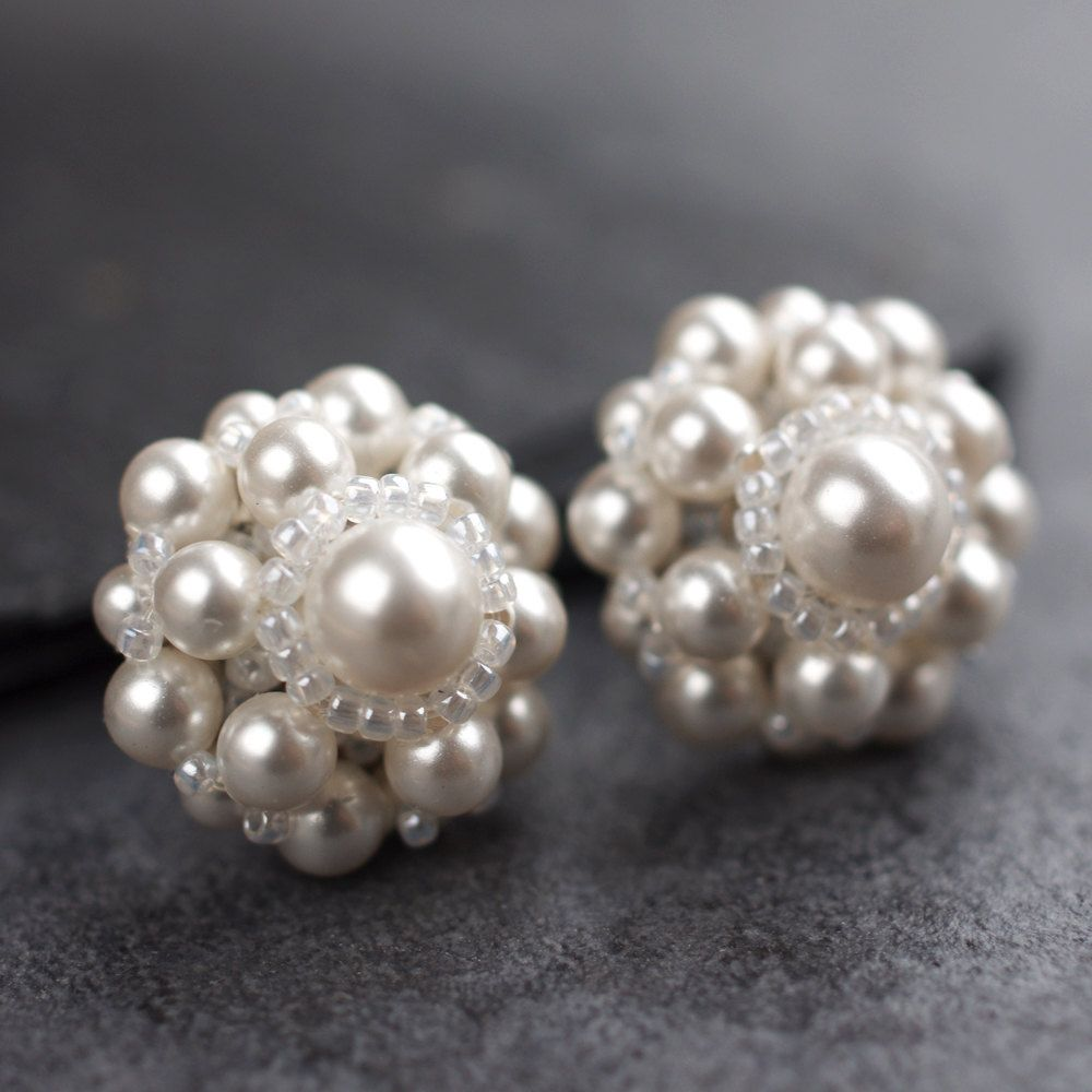 Swarovski Pearl Daisy Earrings
