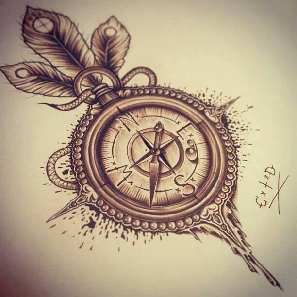 Tatuaż Kompas Tatuaż Pinterest Tattoos Compass Tattoo I