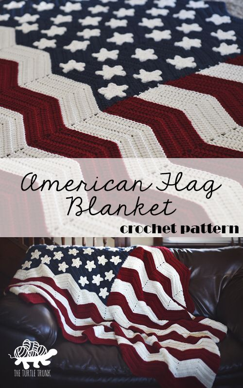 American Flag Blanket Crochet Pattern