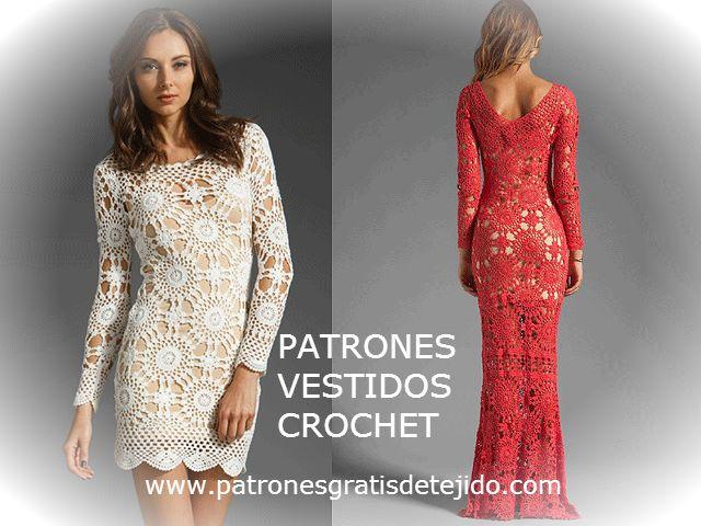 patrones de vestidos crochet | delicadezas a crochet | Pinterest ...