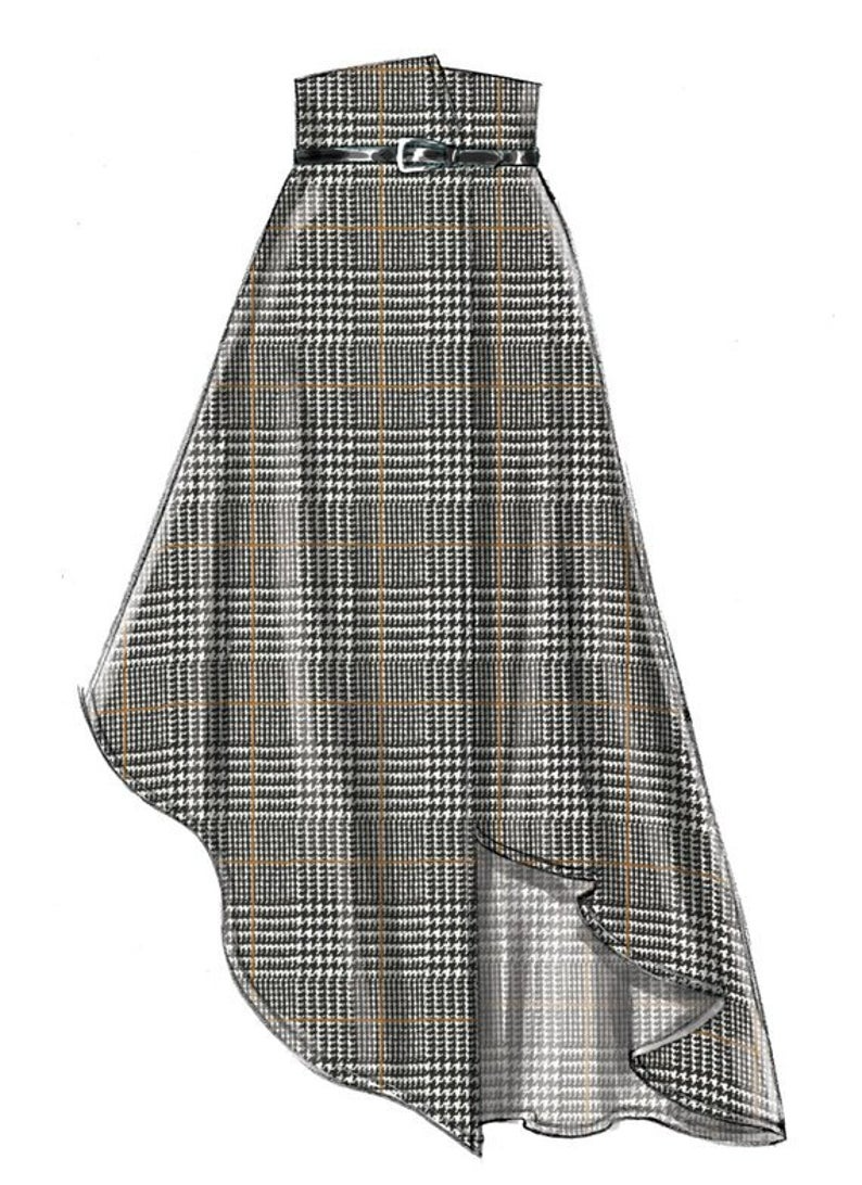 Misses' Skirts and Belt, Wrap Skirt, Asymmetric, H