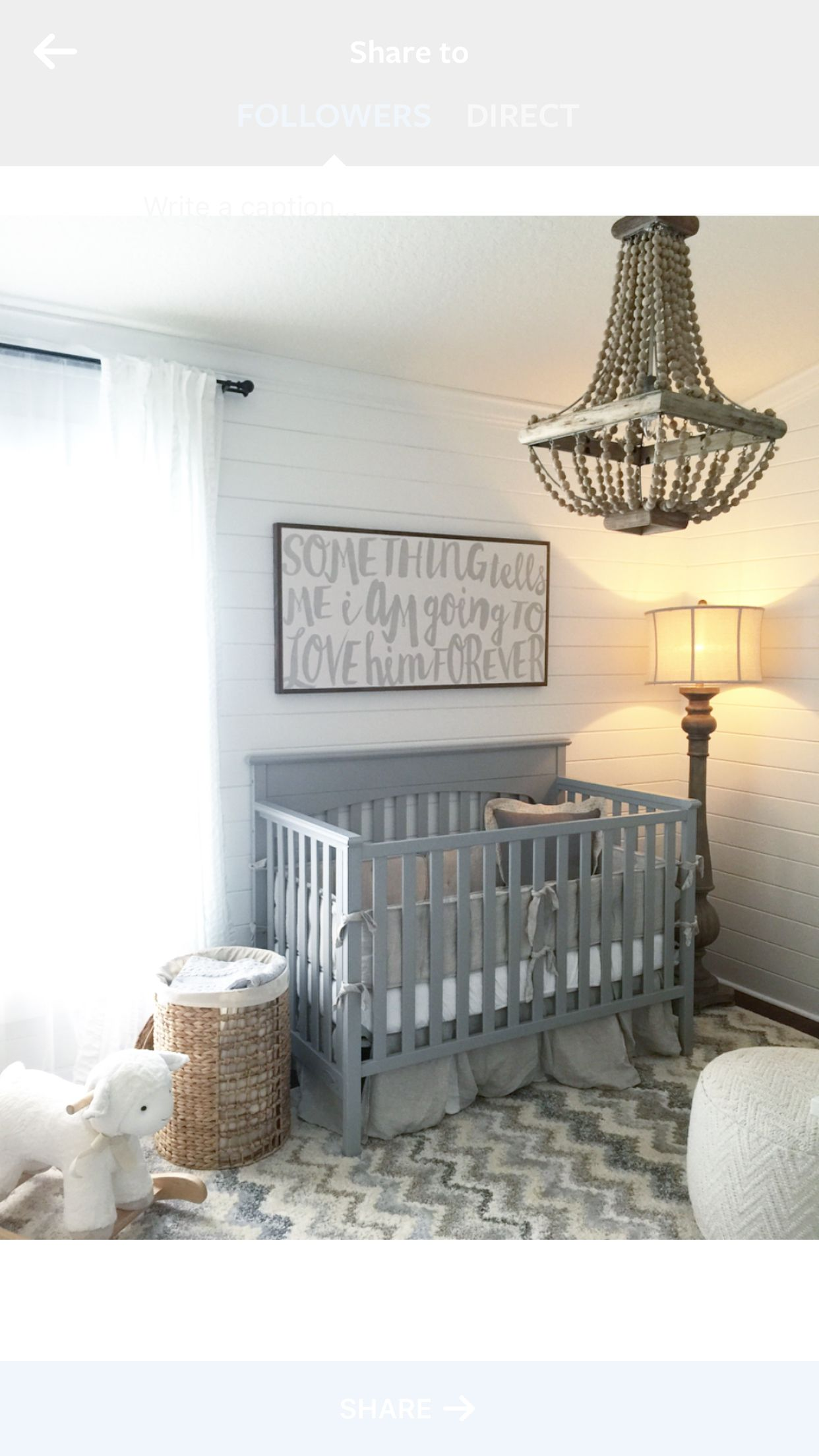 Nursery Ideas Shiplap Grey White Neutral House Of Belongings Baby Boy