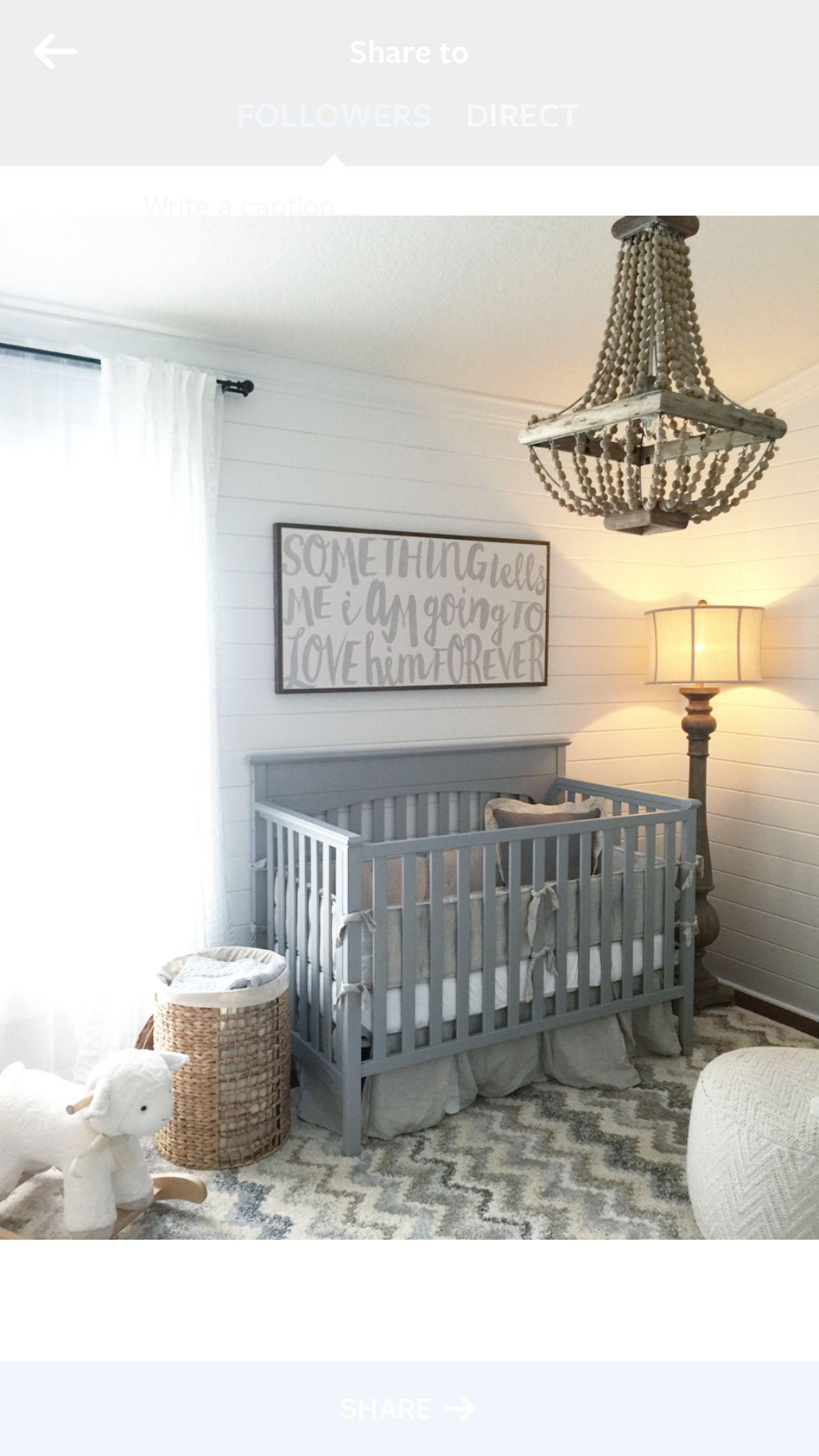 Gray Baby Boy Room Ideas: Nursery Ideas, Shiplap, Grey, White, Neutral, House Of