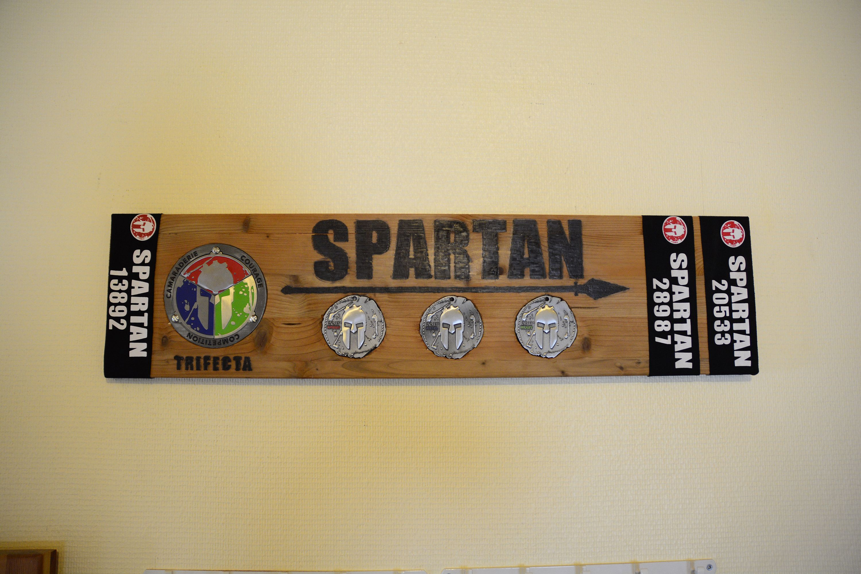 Made For Spartan Medals For Spartan Race Trifecta Race Medal Display Trifecta