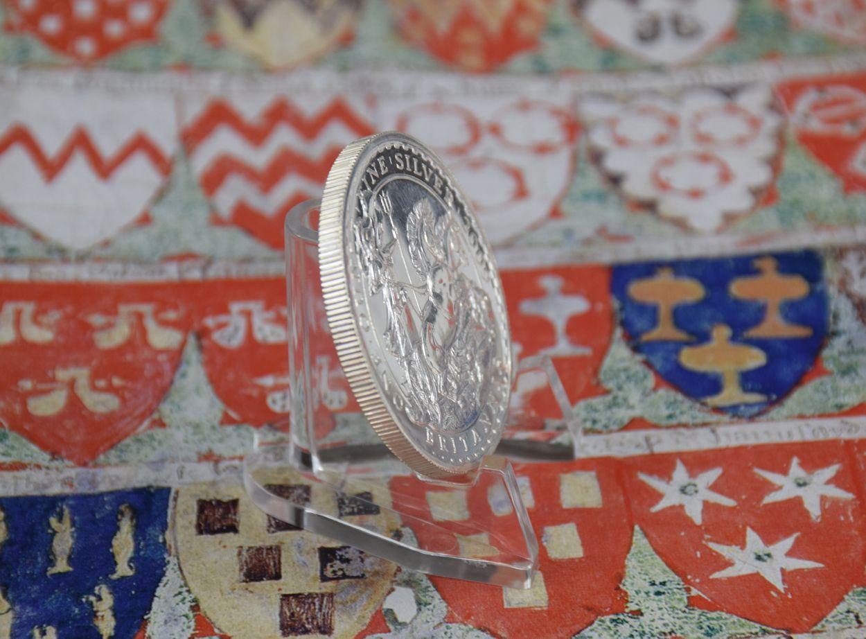 Britannia Silver Coin Edge