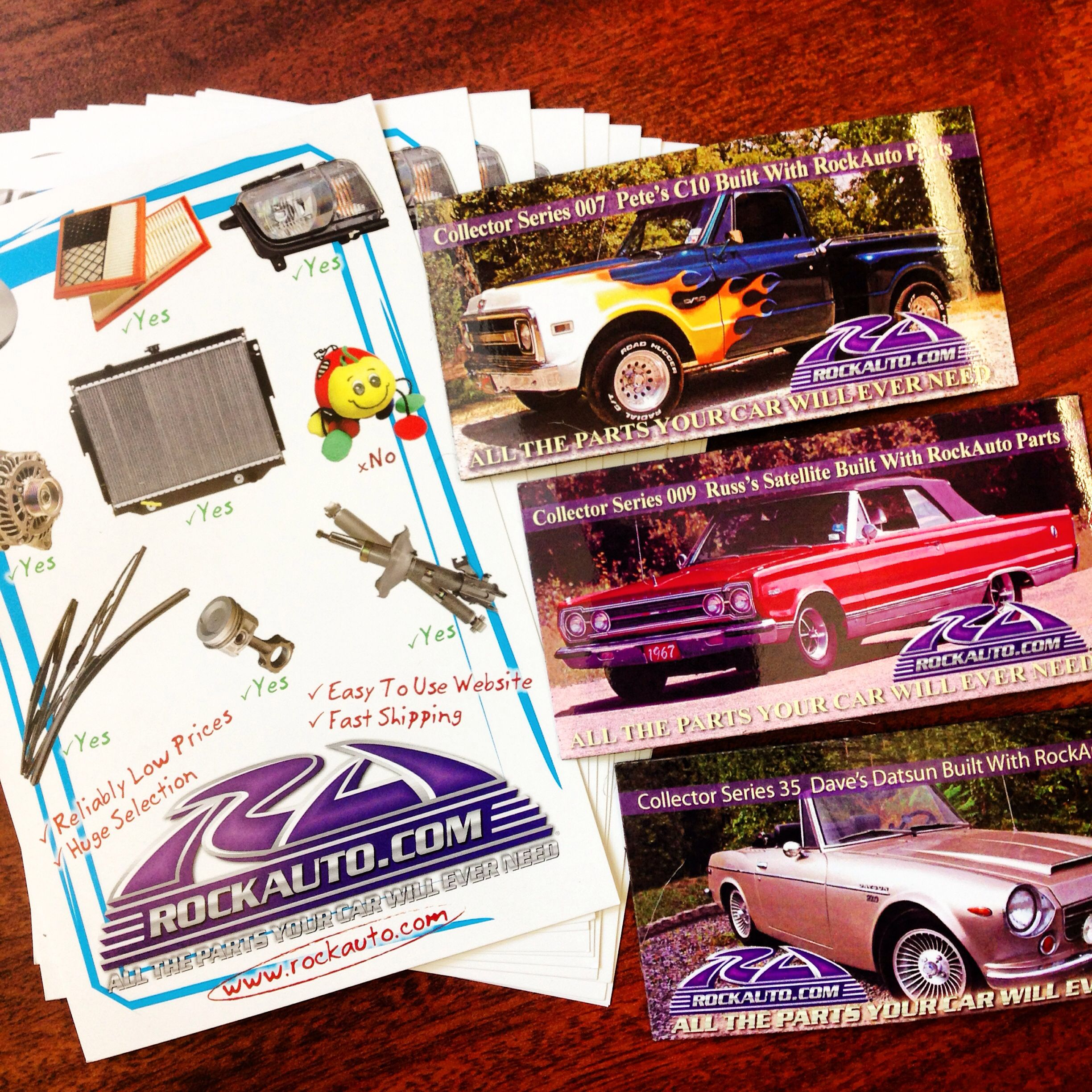 A Very Special THANK YOU To Our Friends From RockAutocom For - Car show goody bag stuffers