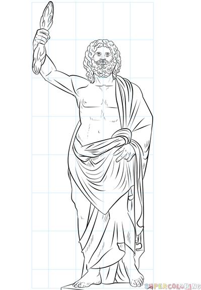 Zeus Easy Drawing : drawing, Greek, Drawing, Tutorials, Tutorial,, Greek,