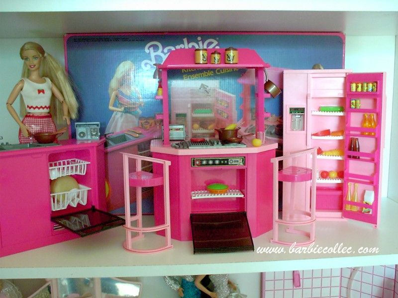 barbie kitchen playset 24 stools for the 84 cuisine my daughter pinterest and by mattel 1986 took after me in loving barbies she loved all little accessories with these playsets never lost