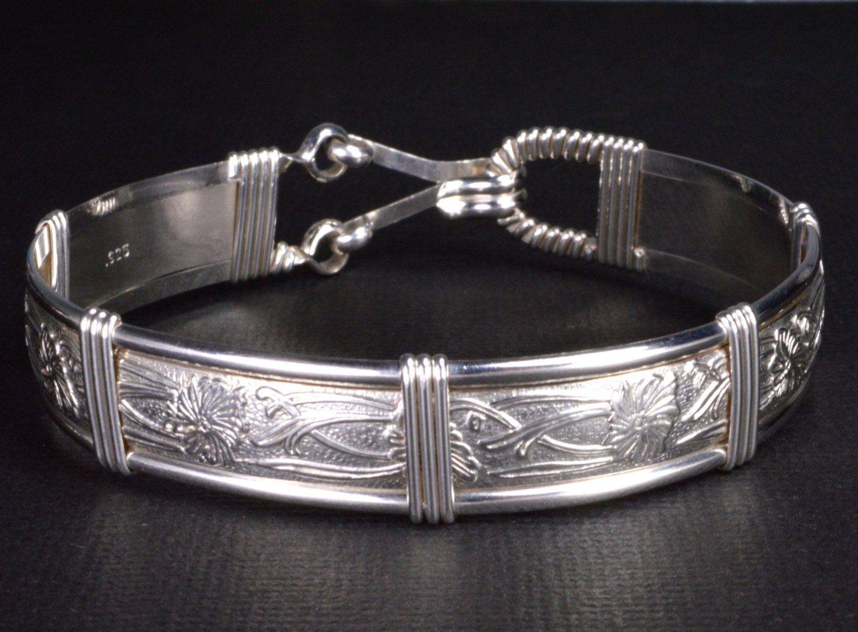 Silver Bracelet Sterling Silver Bracelet Wire Wrapped