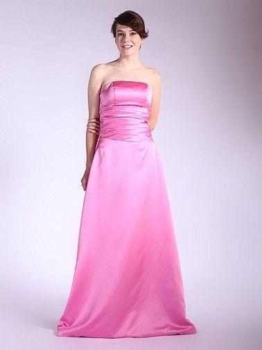 $169.99  Strapless Satin Bridesmaid Dress #bridesmaid #dress