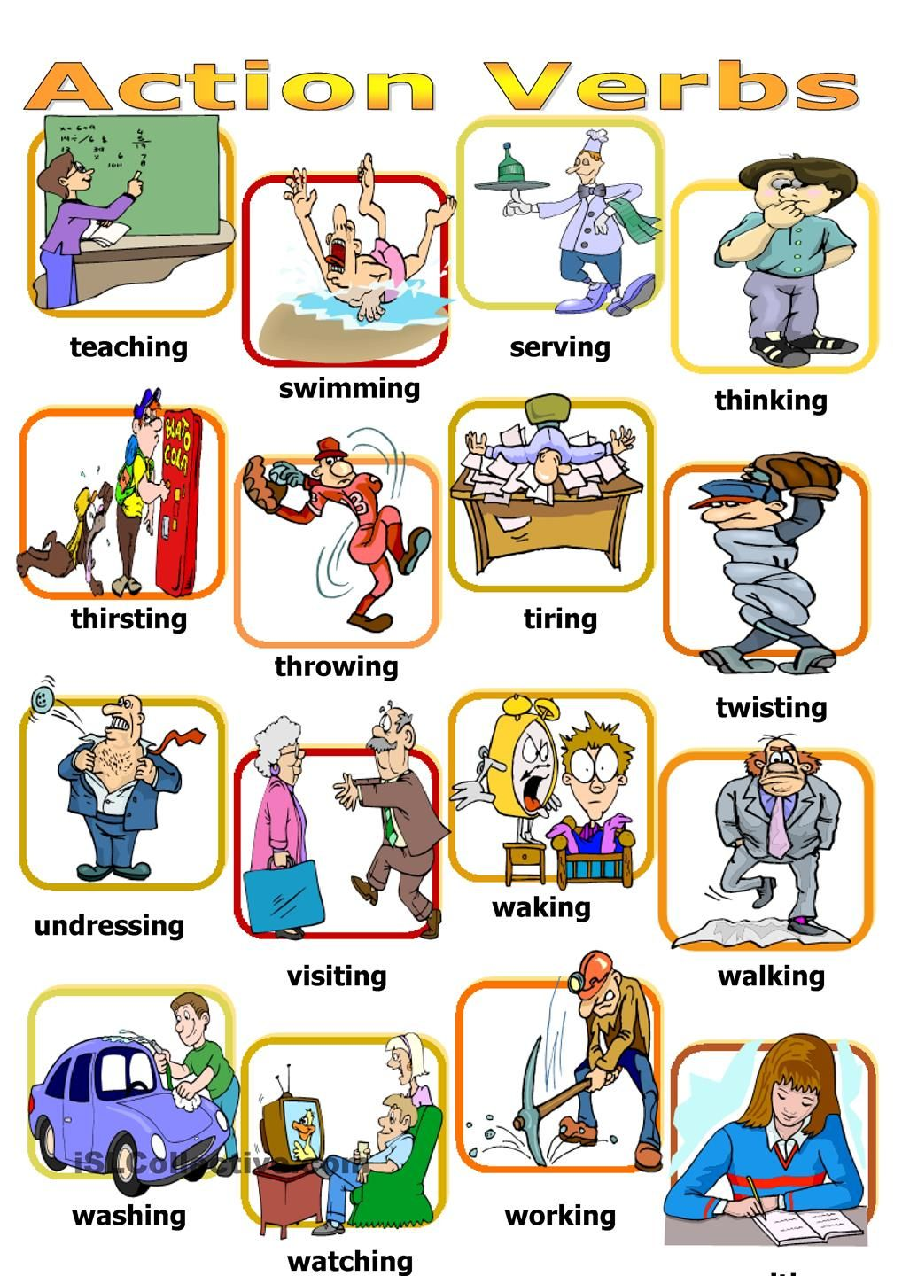 Action verbs board game | อังกฤษ 2 | Pinterest