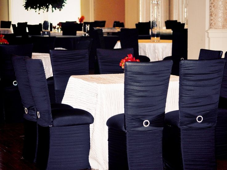 formal chair covers   bejeweled formal Chameleon chair covers // #seating #wedding #chairs # ...