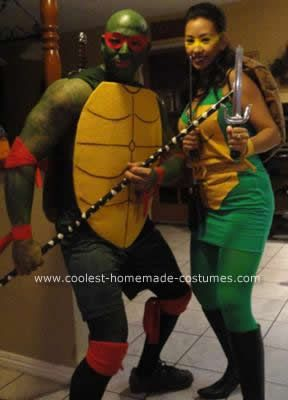 Coolest homemade teenage mutant ninja turtles couple costume coolest homemade teenage mutant ninja turtles couple costume solutioingenieria Image collections