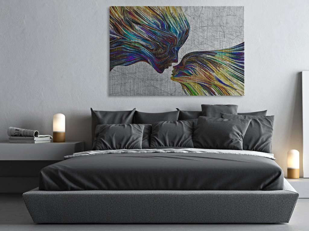 13502 Obraz Na Plotnie Abstrakcja Twarz 120x80 5561899621 Oficjalne Archiwum Allegro Home Decor Bedroom Design Design