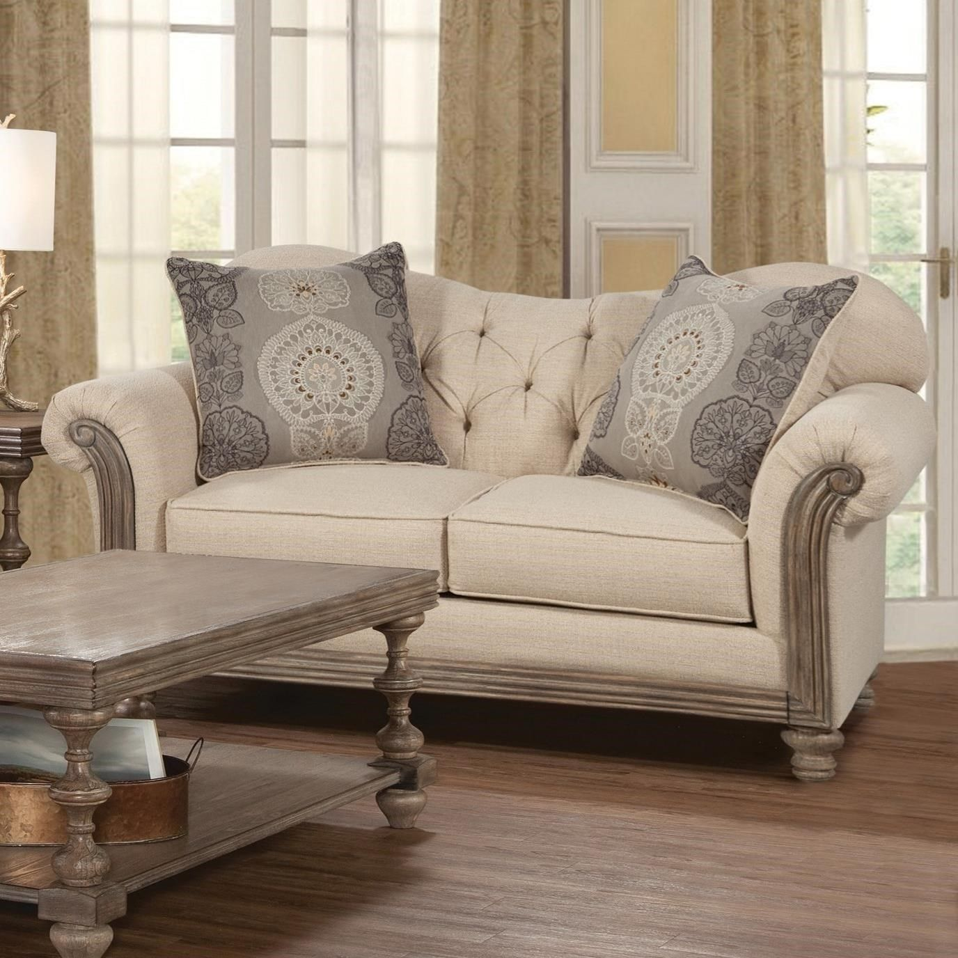 8 Traditional Loveseat by Serta Upholstery by Hughes Furniture