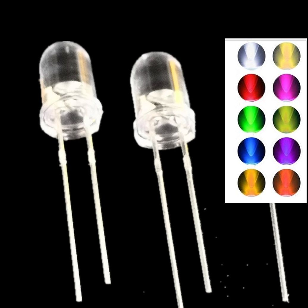 100pcs Lot Led Yellow Color 3mm Diffused Diode Round Light Emitting Diode 20ma 3 Mm Dip Led Lamp Light Wide Angle Components Lightemittingdiode Light Emitting Diode Lamp Light Round Light