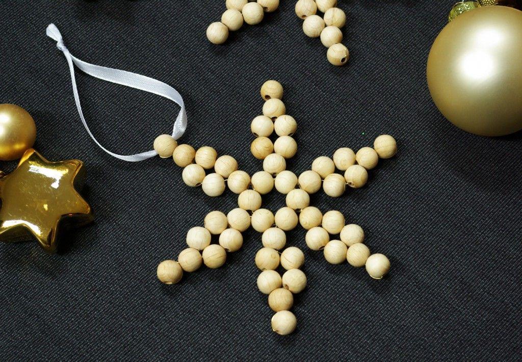 Perlensterne Bastelset Wei/ß 5 sch/öne Perlensterne Rot