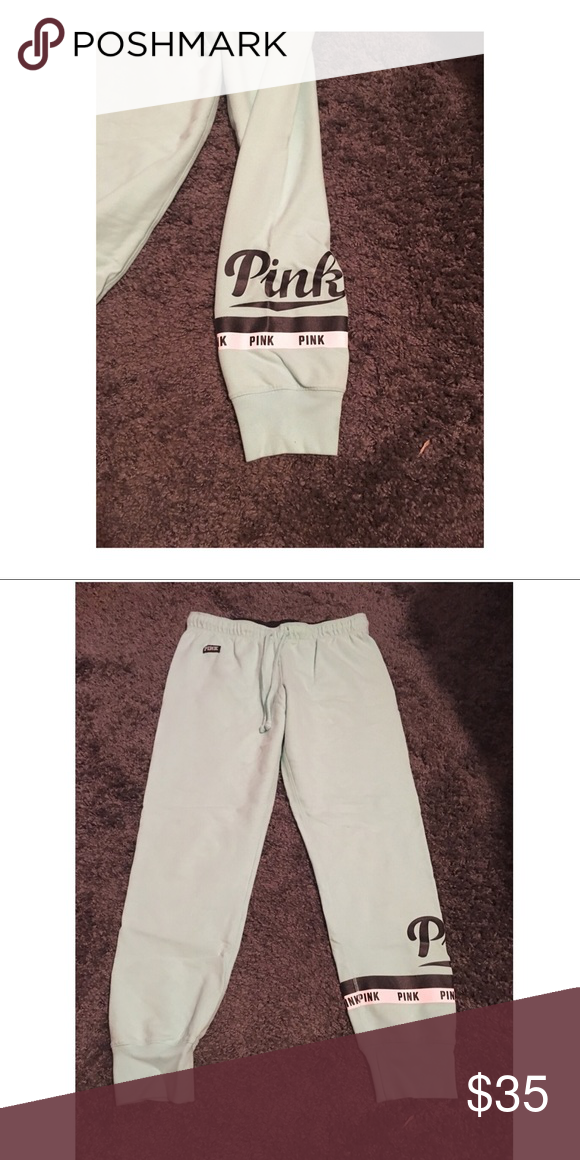 affd388d1abe8 PINK Victoria's Secret Mint Joggers PINK mint green joggers, logo is ...