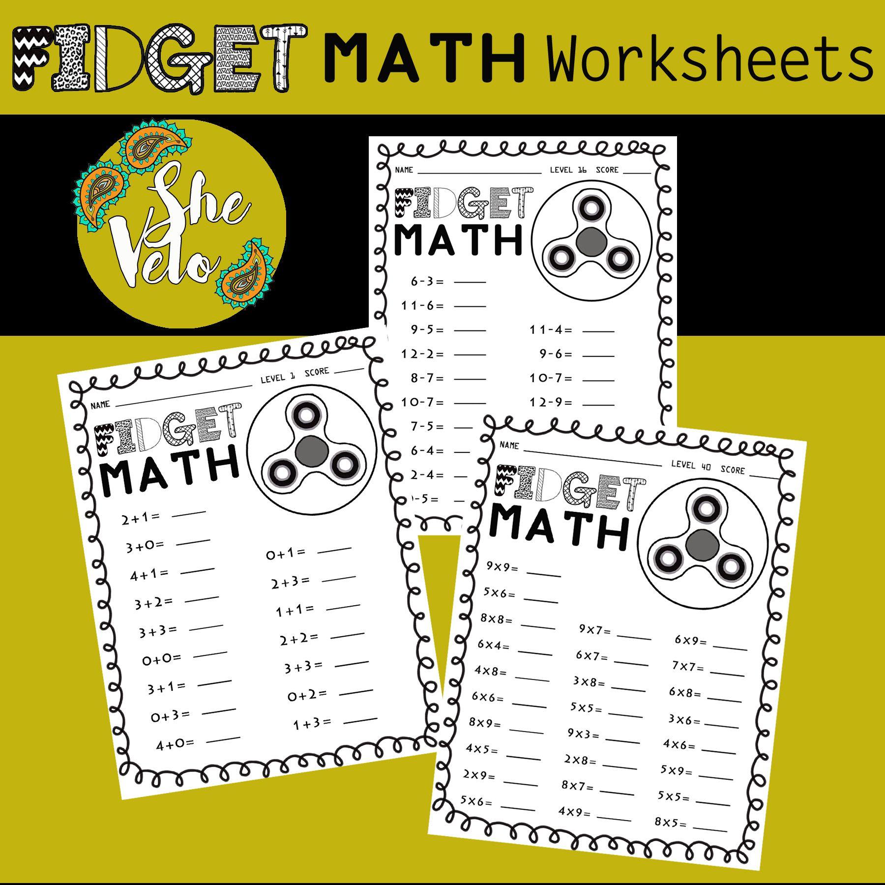 Fidget Spinner Math Worksheets Addition Subtraction