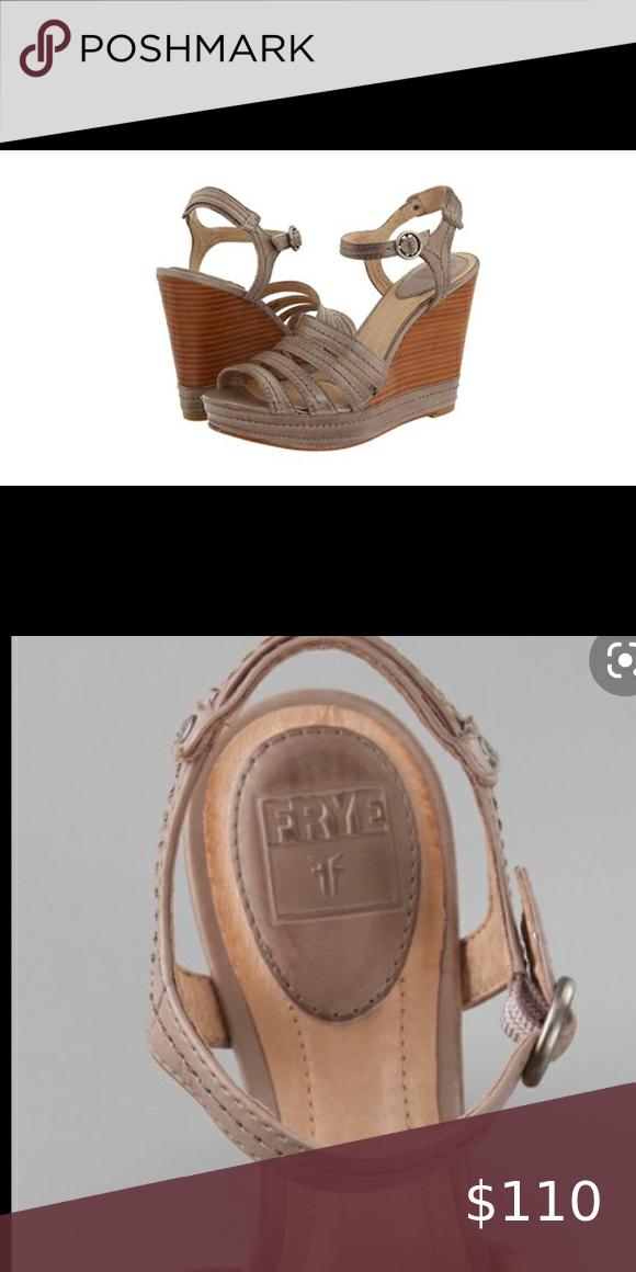 🌟SALE🌟NEW Frye Corrina Leather Wedge Sandal NIB