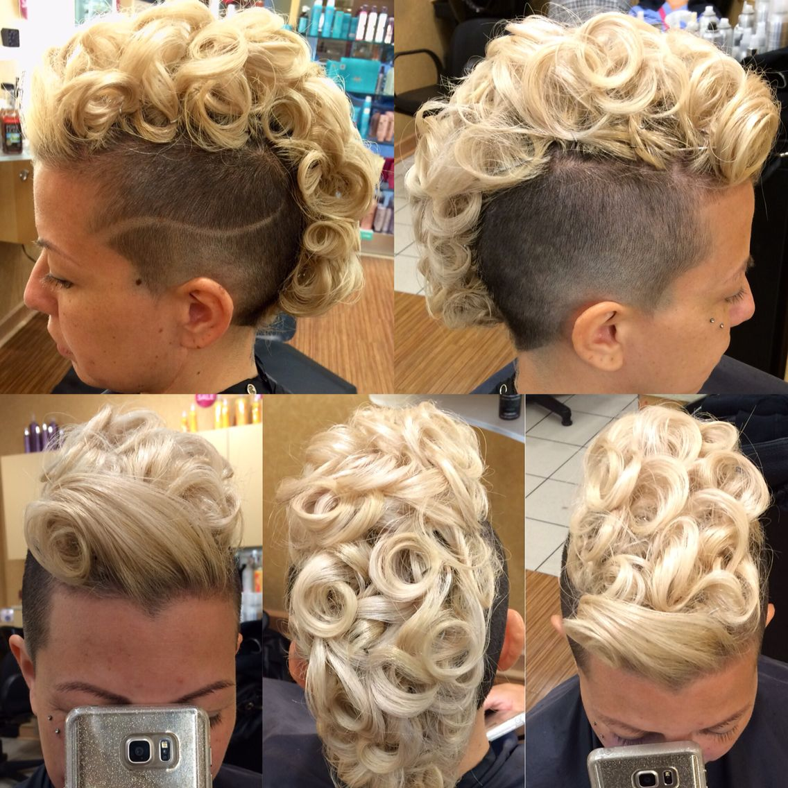Formal style for girls with mohawks girlswithmohawks farmal updo