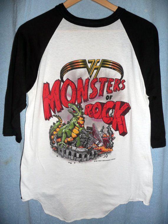 eeb34a3e1 Original Van Halen Monsters of rock Vintage by photosfromtheattic, $125.00